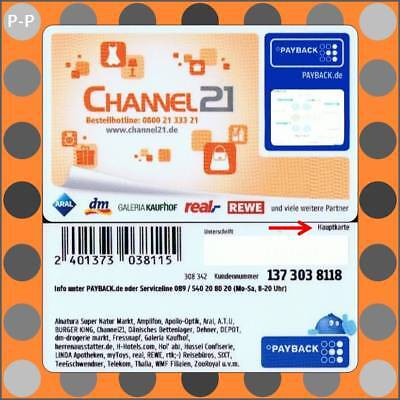 """16001930 → Channel21 Payback Karte """"H"""""""