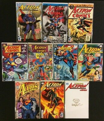 ACTION COMICS #1000 10 SUPERMAN VARIANTS SIGNED JOSE Garcia-Lopez SKETCH COA NM