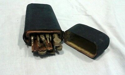 Antique georgian draughtsmans etui case shagreen black complete set