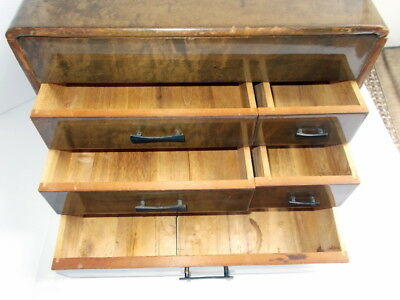Vintage Antique Wood Cabinet Artist Drawers, Jewelry, Writing Box Handmade