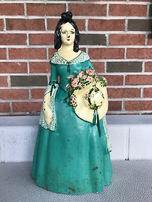 VINTAGE SOUTHERN BELLE Cast Iron Doorstop  NATIONAL FOUNDRY/?