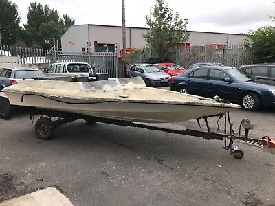 Speedboat unfinished project. Approx 16 foot with trailer.