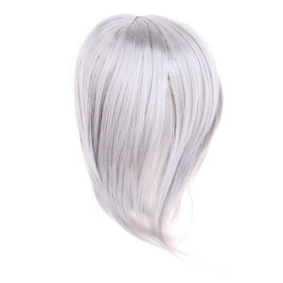 Dolls DIY Making Parts Straight Wig Hair For 1/3 BJD SD Dolls Silver