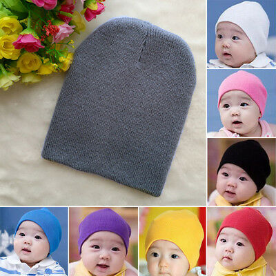 New Infant Baby Cotton Warm Soft Beanie Cap Stretchy Boys Hat Toddler Unisex