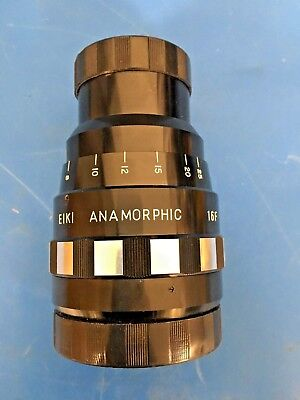 EIKI 16F ANAMORPHIC Projection Lens Cinemascope VTG Japan digital GH5 FREE SHIP