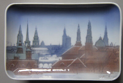 Bing and Grondahl Plate/Dish with The Beautiful Towers of Copenhagen, no. 6556