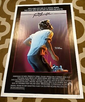 Original 1984 FOOTLOOSE Movie Poster 27 X 41 One Sheet Near Mint+ ROLLED