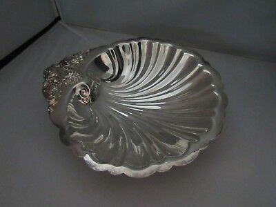Wallace Silver Plate Medium Clamshell Footed Bowl