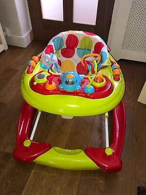 Red Kite baby go round twist 2 in 1 musical walker excellent condition