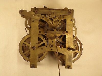 Original Antique Mantel Kitchen Shelf Wall Clock Movement Parts Repair