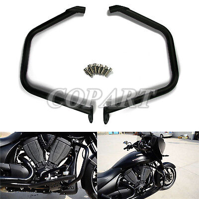 Highway Engine Guard Crash Bar Protection Black For Victory Cross Country
