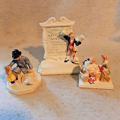 Lot 3 SEBASTIAN MINIATURES Display Sign CANDY STORE Dealer LONG ARM Of The LAW