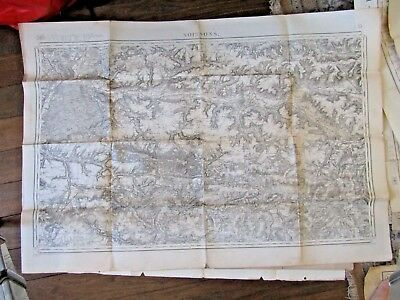 Antique French map Soissons 1912