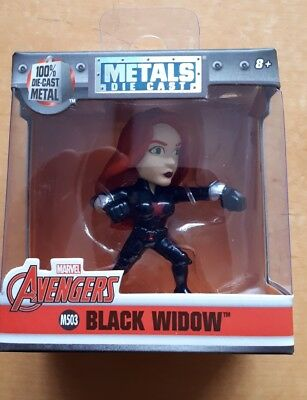 Marvel Avengers Black Widow Metal Die Cast Figure New And Sealed M503