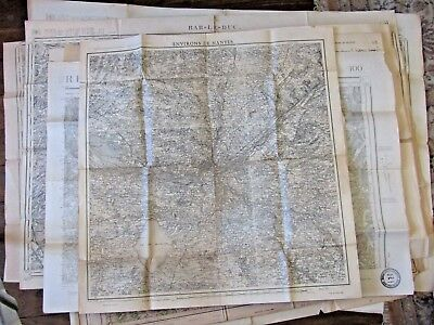 Antique French map Nantes 1941 War
