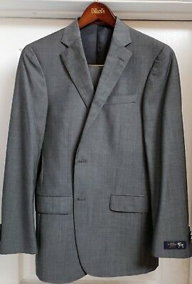 HART SCHAFFNER MARX 39R  Gray Suit Mens  33W 30L NWT MSRP $695