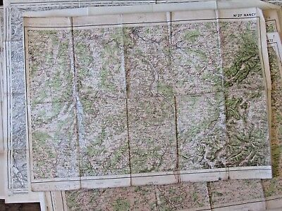 Antique French map Nancy