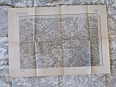 Antique French map of Luneville