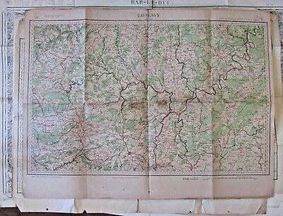 Antique French map of Longwy & Luxembourg