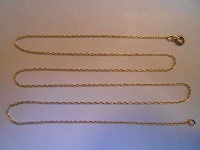 "Estate Solid 10K Yellow Gold Chain Necklace 10KT Jewelry Not Scrap 417 18"" NR Z1"