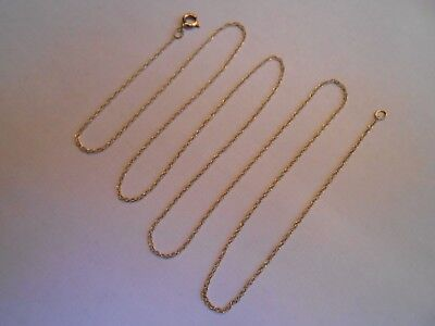 "Estate Solid 10K Yellow Gold Chain Necklace 10KT Jewelry Not Scrap 417 18"" NR Z3"