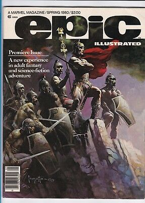 Epic Illustrated #1_Spring 1980_Vf Minus_Silver Surfer_Galactus_Premier Issue!