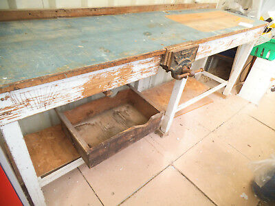 Large substantial wooden workbench