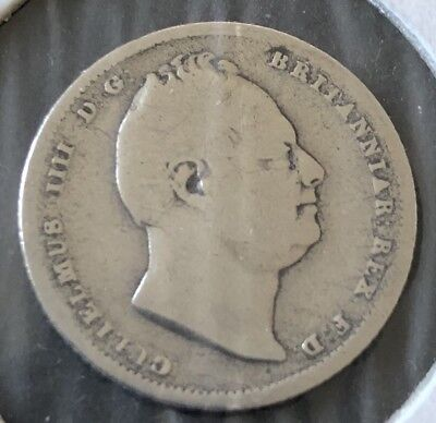1834 Sixpence William IIII .925 Silver British 6d Coin 99p No Reserve