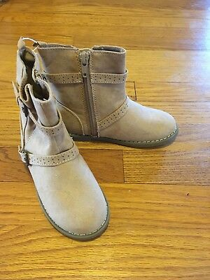 NWT Toddler Girl Faux Suede Boots With Buckle Size 10