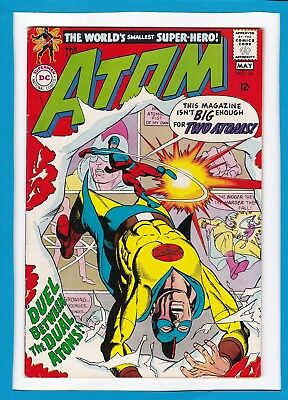 """The Atom #36_May 1968_Very Fine Minus_""""the Dual Atoms""""_Silver Age Dc!"""