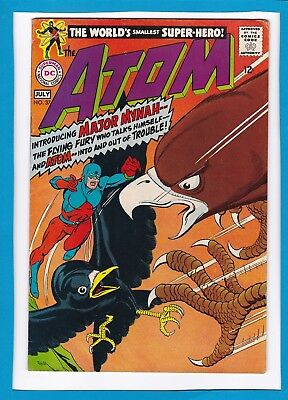 """The Atom #37_July 1968_Very Fine Minus_""""introducing..major Mynah""""_Silver Age Dc!"""