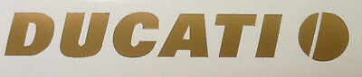 Ducati Logo, Gold Decal for Motorcycle Tank, Helmet, Air Box , Set of 2 stickers