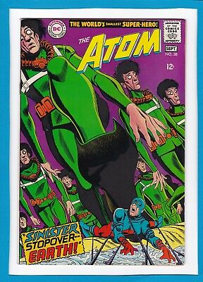 """The Atom #38_September 1968_Very Fine_""""sinister Stopover...earth""""_Silver Age Dc!"""