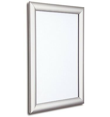 Silver Snap Frames A3 A4 & A5 Wall Mount Poster Holder Retail Display Grip Frame
