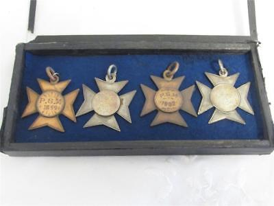 Antique Solid Silver And Bronze Public Service Medals By Mappin & Webb Boar War?