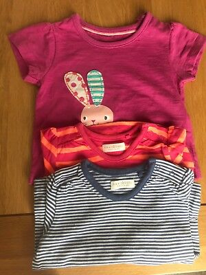 0-3 Months Marks And Spener And 2 Next Long Sleeve Tshirt Bundle