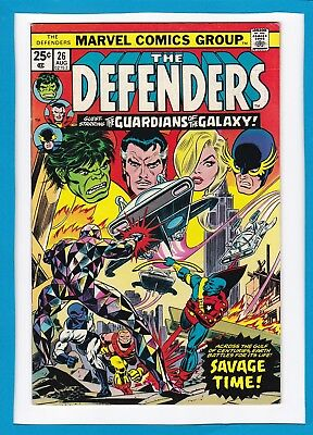 The Defenders #26_August 1975_Vf_Guardians Of The Galaxy_Bronze Age Marvel!