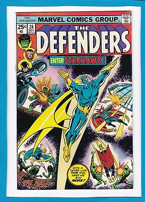 "The Defenders #28_October 1975_Vf_Guardians Of The Galaxy_""enter...starhawk""!"