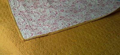 "Vintage Durham Quilt 'the Comfy Regal' Washable Hygienic Reversible 85"" X 68"""