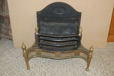 A DECORATIVE EDWARDIAN ANTIQUE CAST IRON AND BRASS FIRE REGISTER ref 1165