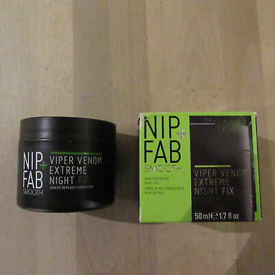NIP + FAB Smooth -Viper Venom Extreme Night Fix -Skin Perfecting Night Gel -50ML