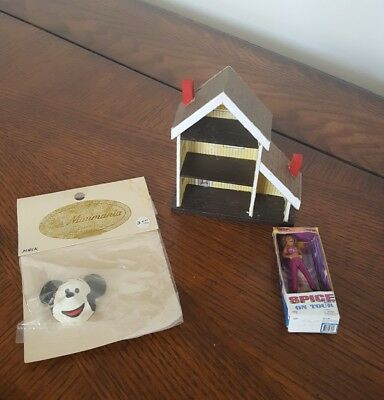 Miniature Dollhouse Accessories Dollhouse, Mickey Mouse Mask, Spice Girl Doll