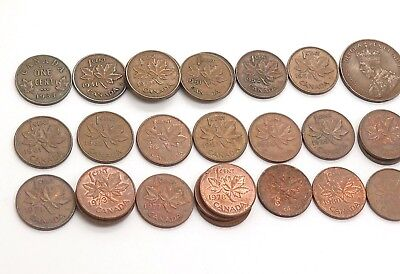 Canada / Canadian Random Age 30s-80s Tons of Various Collectible Coins Lot