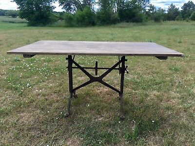Antique drafting table from late 1800s early 1900's 6Lx42Wx36H