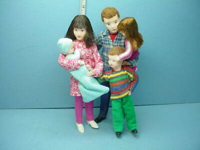 Miniature Family of Five #10980 Dollhouse. Dolls, Handcrafted Erna Meyer 1/12th