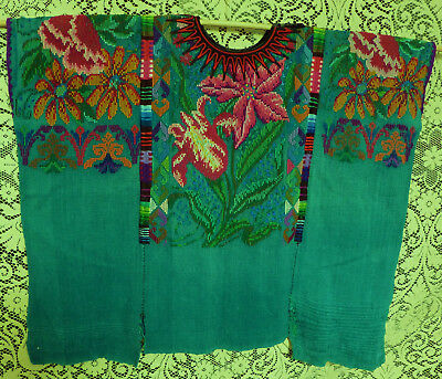 Guatamal huipil vintage Chichicastenan hand woven cotton