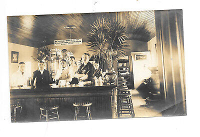 Pre-Prohibition Bar Photo, Unmounted Photo of a Lunch Room w/Brawny Men and Boy