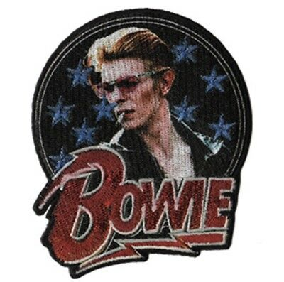 David Bowie Glitter Embroidered Patch B019P Ziggy Stardust Iggy Pop Stooges