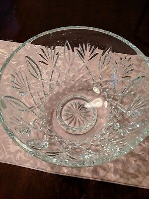 Stunning New in Box Waterford Crystal Footed 10 inch Bowl
