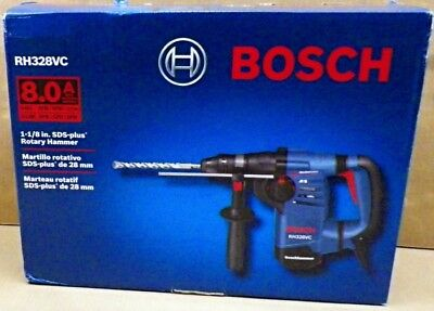 "Bosch 8 Amp 1-1/8"" SDS Plus Rotary Hammer Drill W/ Case RH328VC New"